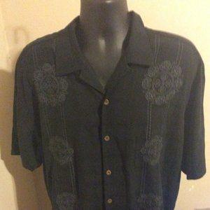 Tommy Bahama Silk Button Shirt XL